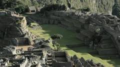 Centre of Machu Picchu Complex Stock Footage