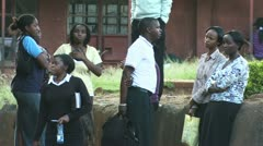 Conversation young people - Thika city - stock footage