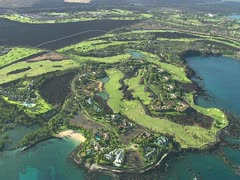 Mauna Lani Resort Golf Course Stock Footage