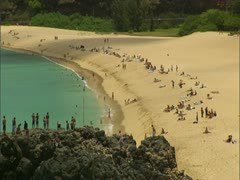 Waimea Bay in O'ahu Stock Footage