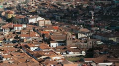 Downtown Cusco from above - stock footage