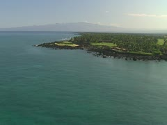 Four Seasons Hualalai Resort and Kohala Mountain Stock Footage