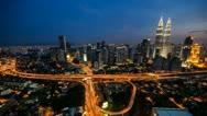 Stock Video Footage of Kuala Lumpur Night Timelapse