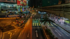 Busy Intersection Timelapse Stock Footage