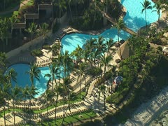 Hilton Waikoloa Village Resort Swimming Pool Stock Footage