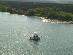 Dive Boat off the Kona Coast Stock Footage