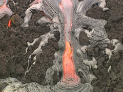 Lava Flow on Mauna Loa Stock Footage