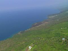 South Kona Coastline Stock Footage