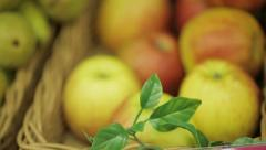 Apples on the shelves. Stock Footage