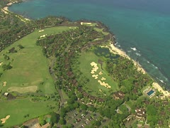 Hualalai Resort Golf Course Stock Footage
