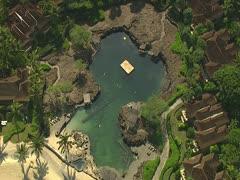Four Seasons Hualalai Resort Kings' Pool Stock Footage