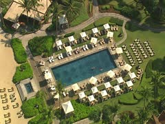Four Seasons Hualalai Resort Pool Stock Footage