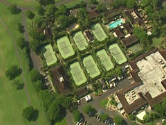 Four Seasons Hualalai Resort Tennis Courts Stock Footage