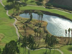 Waikoloa Beach Resort Golf Course Stock Footage