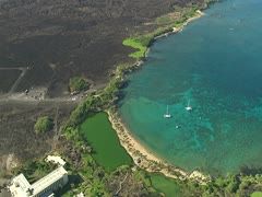 Waikoloa Beach Resort and Anaeho'omalu Bay Stock Footage