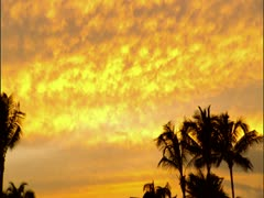 Orange Sky After Sunset Stock Footage