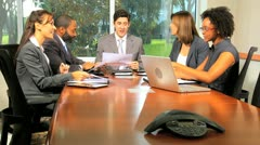 Smart Financial Traders Using Wireless Technology Stock Footage