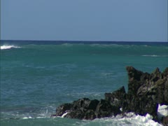 Hawaii Coastline and Surf Stock Footage