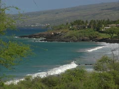 Secluded Bay and Surf - stock footage