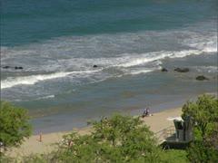 Hapuna Beach and Lifeguard Stand Stock Footage