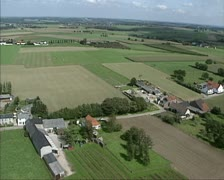 Aerial shot Dutch Countryside at Plateau van Margraten Stock Footage