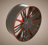 Stock Illustration of auto alloy disc or wheel