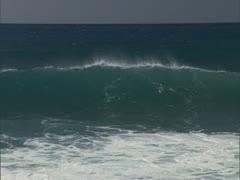 Windswept Waves Crashing Stock Footage