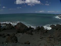 Black Sand Beach Stock Footage