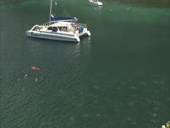 Maui Bay and Snorkelers Stock Footage