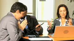 Multi Ethnic Business Group Good News Stock Footage