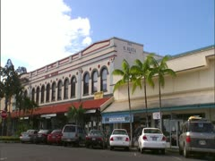 Downtown Hilo, Old Buildings Stock Footage
