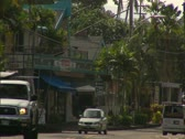 Stock Video Footage of Downtown Kailua-Kona, Ali'i Drive