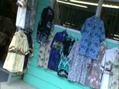Storefront with Aloha Shirts - stock footage