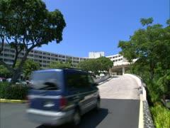 Keauhou Resort, Car Entering Stock Footage