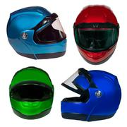 motorcycle helmet on a white background - stock photo