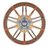 Alloy wheel or disc of sportcar isolated Stock Illustration