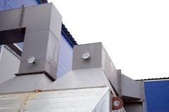 Design element biofuel boiler house Stock Photos