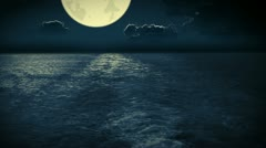 Navigation at the nighttime ocean Stock Footage