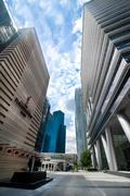 Urban lanscape of Singapore - stock photo