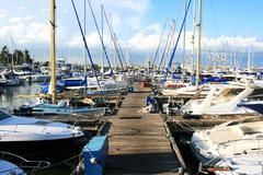 larnaca port - stock photo