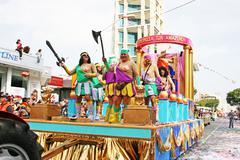 carnival in cyprus - stock photo