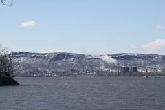 Power Plant on the Hudson - stock photo