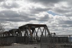 Railroad Trestle - stock photo