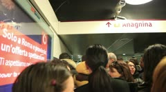 A subway station in Rome - stock footage