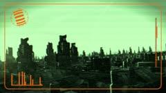 Sci-Fi City Flight Stock Footage