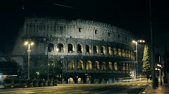 Colosseum in Rome timelapse Stock Footage