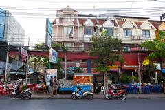 Street in patong. thailand. editorial only. Stock Photos