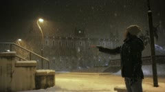 Special effect, snowing backward. - stock footage