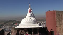 Hindu temple in Jodphur  fort,Rajasthan,India Stock Footage