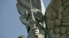 Cupid statue in Sefton Park, Liverpool Stock Footage